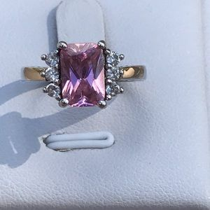 Art Deco Pink Sapphire Ring